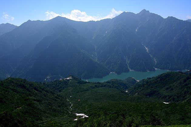 大観峰から黒部ダム